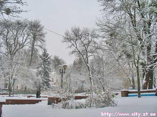 Зимній парк міста Житомра
